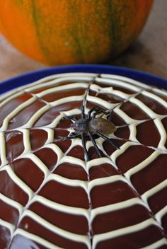 We love this simple but effective Creepy Cobweb Cake - yummy! #baking
