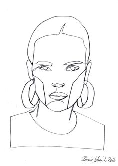 """Gaze 467″, continuous line drawing by Boris Schmitz"