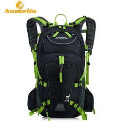 Premium Quality ANMEILU 25L Lightweight Durable Waterproof Sport Camping Hiking Backpack w/Helmet Net & Water Bottle 5 Colors