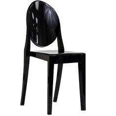 Philippe Starck Style Louis Ghost Arm Chair Black Philippe