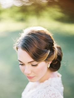 loose waves bridal pinup hair - Google Search