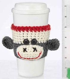 Monkey Cup Cozy : crochet