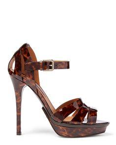 0e4d5896255a Ralph Lauren Calfskin Jenilee Women s Sandal - Tan - Size 37 (other...  ( 295) ❤ liked on Polyvore