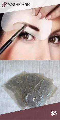 Brow Stencils Brow Stencils. Never Used. 23 different styles to choose from. Makeup Brushes & Tools