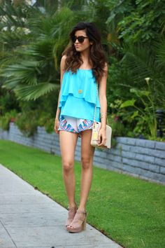 sazan, barzani, kurdish, blogger, fashion, what is fashion, lovers and friends, turquoise, summer outfit ideas, vacation, summer 2014, best summer outfits, best vacation outfits, tropical, paradise, karen walker, h&m, sandal clogs, tribal shorts, coin necklace, badgley mischka, nude bag, chic style, express, gold jewelry, hair ideas, makeup ideas, outfit ideas, affordable finds, looks for less, street style, beauty