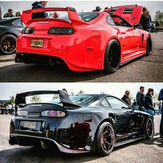 Both of these Toyota Supras look good, but if I picked one, it'd definitely be the black one
