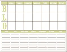 Free Calendars and Planners - Living Locurto