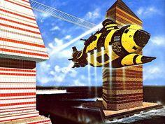 Fantasy - Surrealism - Other Art The Art Of Storytelling, 70s Sci Fi Art, Sci Fi Ships, Classic Sci Fi, Cyberpunk Art, Science Fiction Art, Manga Illustration, Retro Futurism, Sci Fi Fantasy
