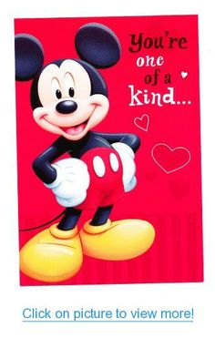 Valentine's Day Greeting Card - Mickey Mouse You're One of a Kind #Valentines #Day #Greeting #Card #Mickey #Mouse #One #Kind