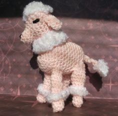 Small Crochet Amigurumi Toy Pink Poodle by SalemsShop on Etsy, $13.00