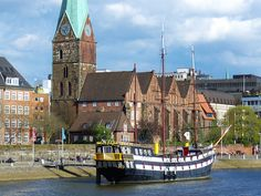 Bremen, Germany... the town where my family supposedly is from and/or embarked from Germany. The records stop here.