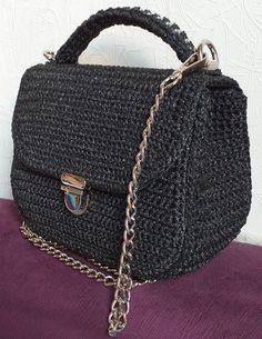 Crochet Bags, Knit Crochet, Leather Bag Pattern, Shoulder Bag, Handbags, Knitting, Canvas, Crafts, Inspiration