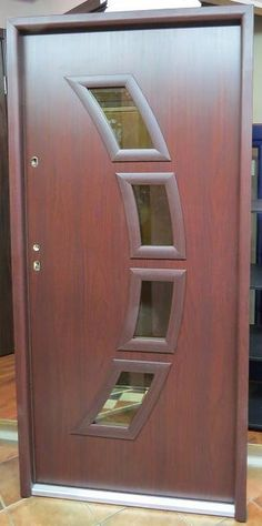 \ Seattle\  design steel exterior door is available in mahogany color. This door comes & Modern Style Contemporary Steel Exterior Door With Glass. The Door ...
