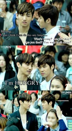 lol... this is soo Changmin! XD Yunho's face is priceless!