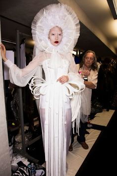 Jean Paul Gaultier at Couture Fall 2016 - Backstage Runway Photos