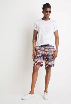 Deze korte broek met Tribal Print vind je nu via Aldoor in de uitverkoop #heren #mannen #mode #shorts #boho #aztec #tribal #men #fashion #sale
