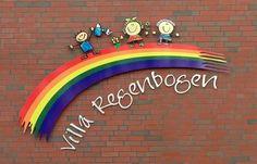 Lustiges Schild für den Kindergarten Villa Regenbogen in Algermissen