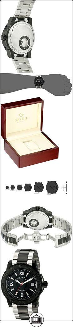 Gevril Hombre 3110B seacloud Reloj de Pantalla de dos tonos analógico  ✿ Relojes para hombre - (Lujo) ✿