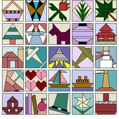 Sample Blocks. Program comes with 500 foundation blocks.