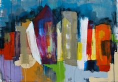Mia Linnman city scape with beautiful colours