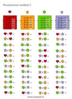 Ken je de tafel van 2,3,4 en 5 nog niet zo goed? Bij deze puzzel mag je gewoon spieken!