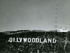 Hollywoodland Sign In Disrepair