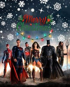 justice league. christmas