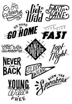 lettering Tim Praetzel