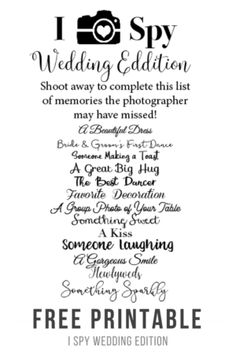 I spy wedding printable interior design 3d free i spy wedding printable wedding pinterest spy weddings rh pinterest com i love spy wedding template i spy wedding template maxwellsz