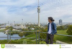 Tourist In Olympiapark Munich, Germany Editorial Photography - Image: 100954857