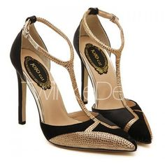 Sexy Splicing and Rhinestones Design Women's Pumps Black ($27) ❤ liked on Polyvore featuring shoes, pumps, sexy pumps, sexy black pumps, sexy black shoes, black shoes and sexy rhinestone shoes