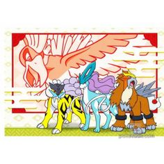 Pokemon Center Online 2018 Suicune Raikou Entei Ho-oh Celebi Monthly Postcard (January) Lottery Prize NOT SOLD IN STORES