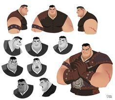 "ArtStation - Robin hood ""Little John"", Hong SoonSang Fat Character, Character Sketches, Character Design Animation, Fantasy Character Design, Character Design References, Character Drawing, Character Design Inspiration, Character Concept, Character Sheet"