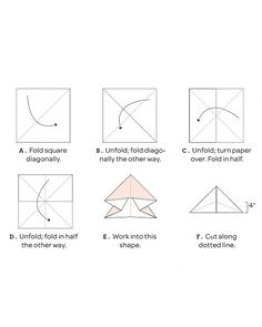 Martha Stewart paper star folding instructions