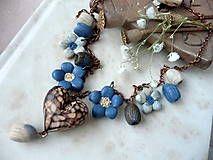 Náhrdelníky - volanie lúky-za lipou XI-náhrdelník - 5319948_