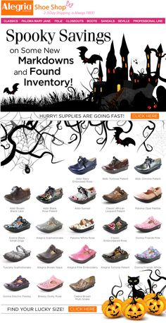 Spooky Savings at Alegria Shoe Shop!