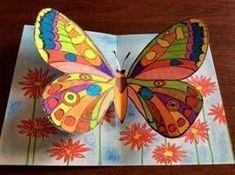 Motýli – prostorový obrázek - New Ideas Spring Art Projects, Spring Crafts For Kids, Art For Kids, Butterfly Crafts, Butterfly Art, 2nd Grade Art, Art Lessons Elementary, Elementary Schools, Kindergarten Art
