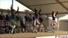 Champions fling at Cowal Highland Gathering 2014 - World Highland Dancing Champions