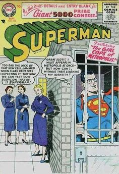 1956-09 - Superman Volume 1 - #108 - The Girl Cops of Metropolis #SupermanComics #DCComics #SupermanFan #Superman #ComicBooks