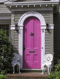 CHÁ MATE COM PINHÃO: INSPIRAÇÕES: portas coloridas - colored doors - parte 1