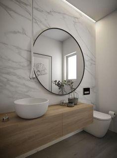 cuarto de baño moderno con luz indirecta