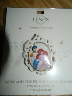 "Amazon.com: Lenox Disney's Little Mermaid Ariel and the Prince Sweet Romance Pin - 2"" Cameo: Everything Else"