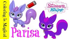 Parisa Fox Shimmer and Shine Toy Coloring Page Video Nickelodeon Videos, My Busy Books, Nick Jr, Shimmer N Shine, Coloring Pages, Wedding Flowers, Preschool, Digital, Fox