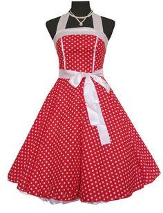 50s 60s Pinup Rockabilly Vintage Polka Dot Full Swing Skirt Jive Part Dress 505