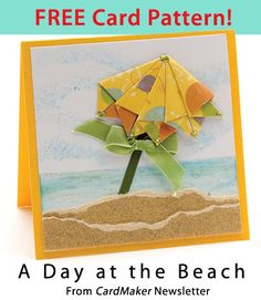A Day at the Beach Download from CardMaker newsletter. Click on the photo to access the free pattern. Sign up for this free newsletter here: AnniesNewsletters.com.
