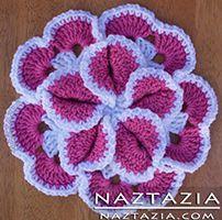 Crochet Flower Petal Potholder Hotpad - Pot holder / Hot Pad Crocheted by Donna Wolfe from Naztazia