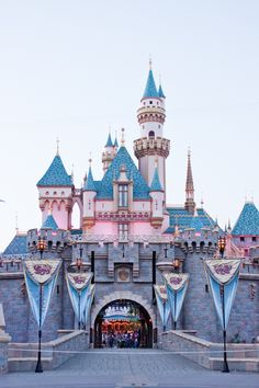 Sleeping Beauty Castle at Disney Land in California! I wanna go here so bad.
