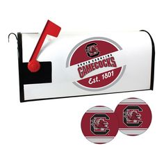 South Carolina Gamecocks Magnetic Mailbox Cover & Decal Set, Multicolor