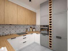 Mieszkanie - 85 m2 - Średnia zamknięta kuchnia w kształcie litery u, styl skandynawski - zdjęcie od BIG IDEA studio projektowe