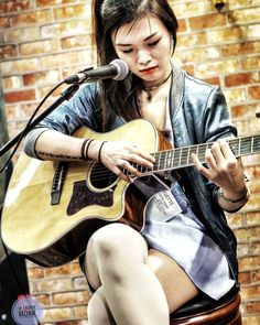 Meanwhile over @shreddelicious Yvette Young is playing at the Cort guitars booth.